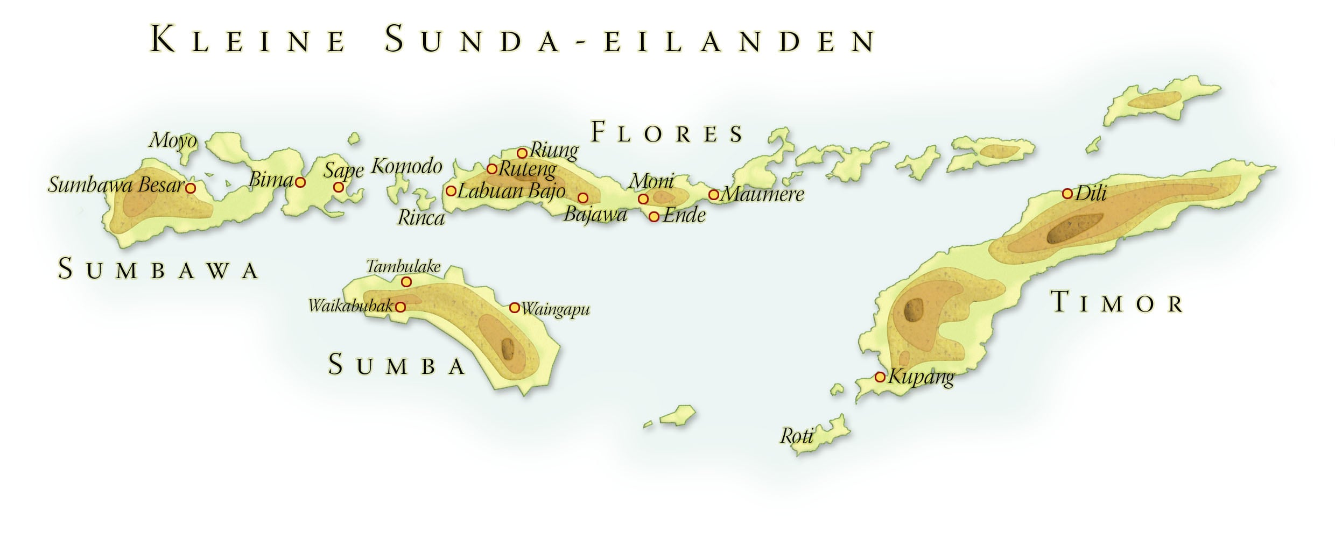 Landkaart Kleine Sunda eilanden