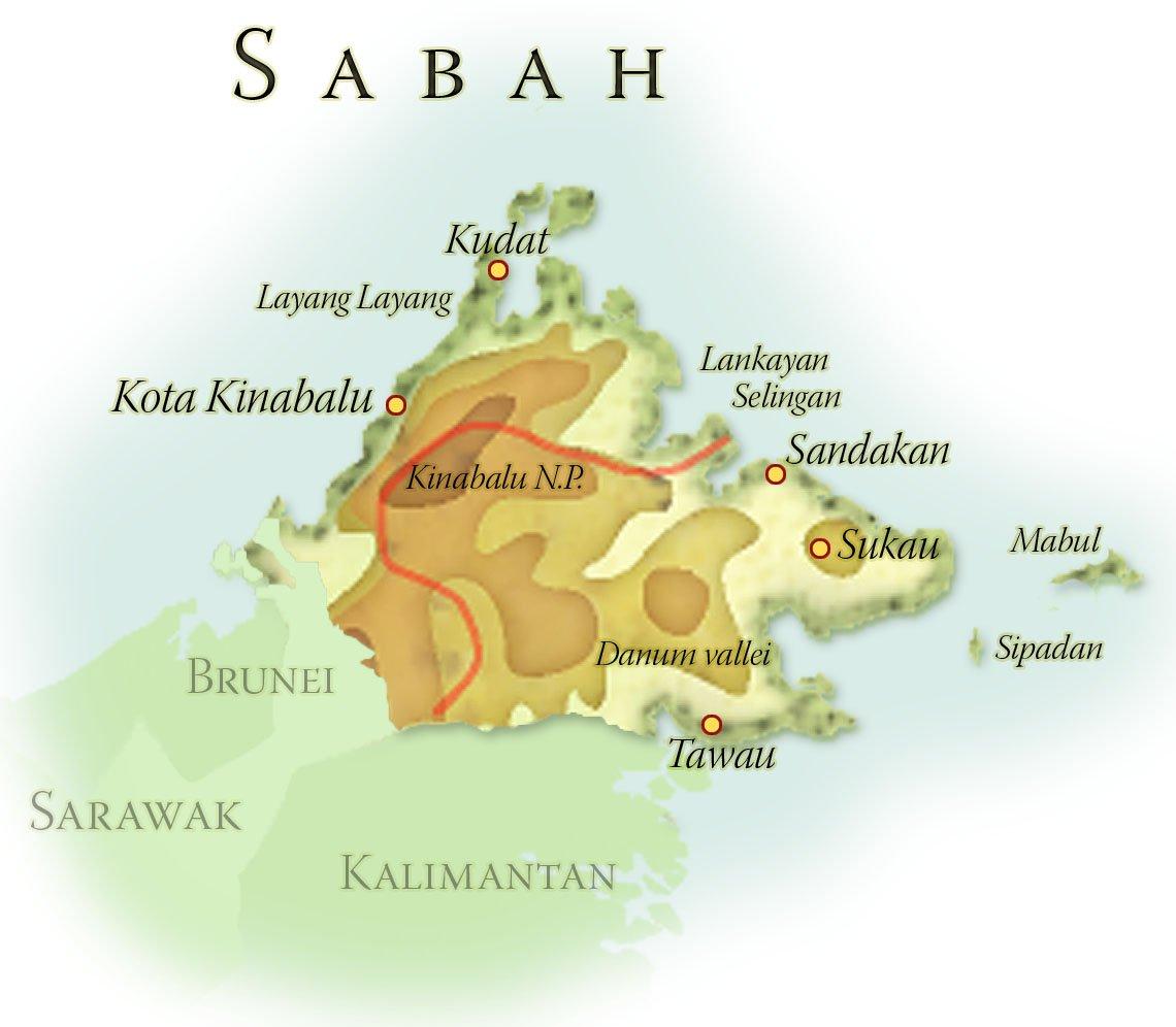 Landkaart Brunei