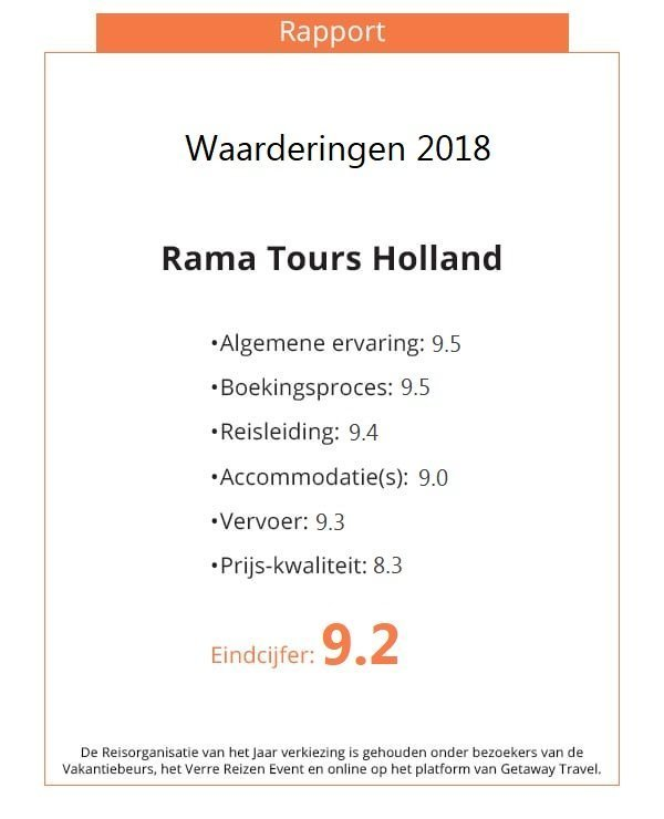 Rapport Rama Tours Getaway verkiezing 2018